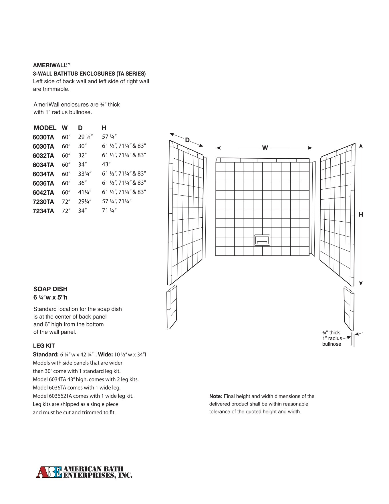 Bathtub Acrylic Enclosures | Hayward, CA | American Bath Enterprises ...