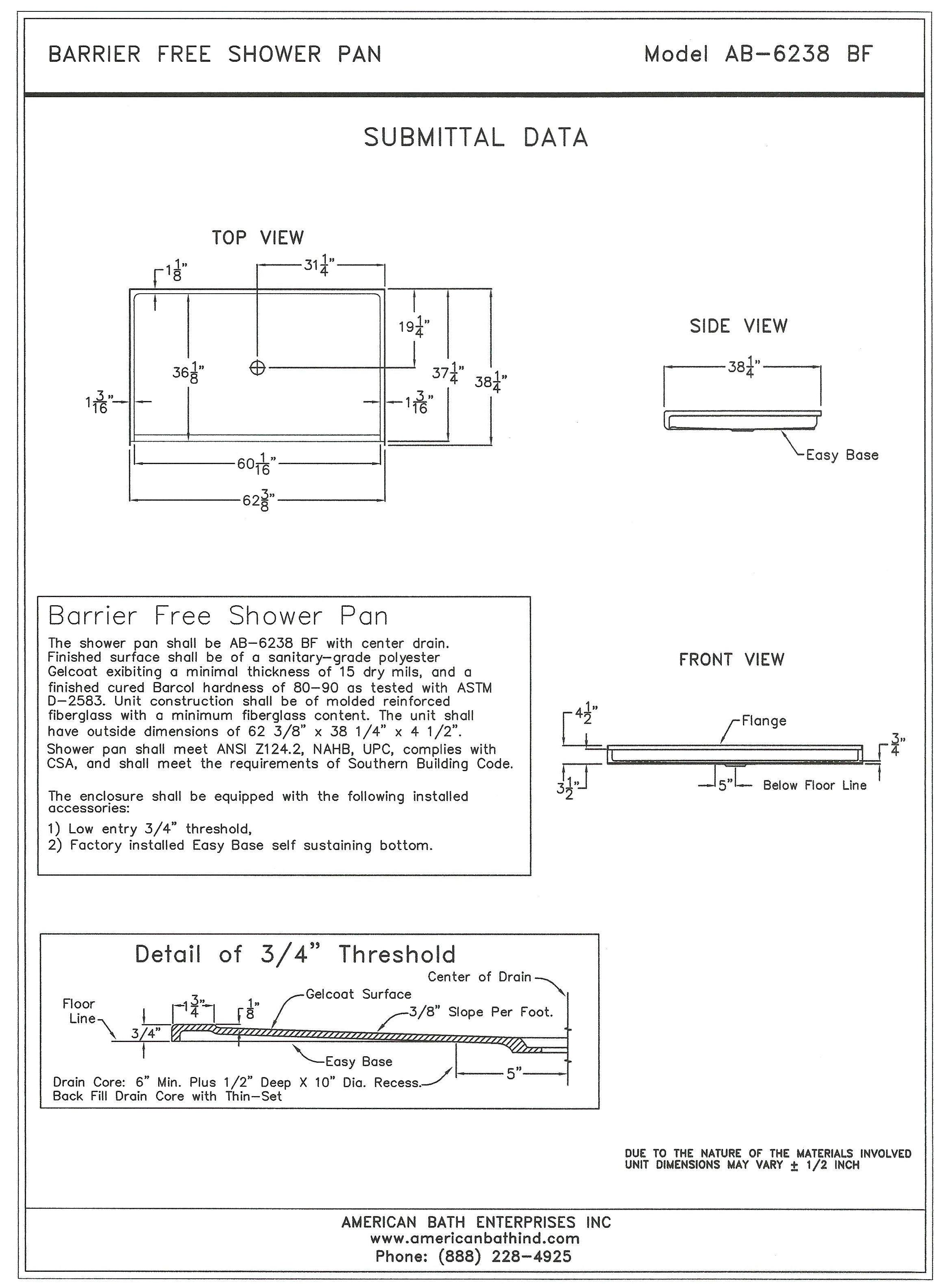 barrier pan instruction sheet
