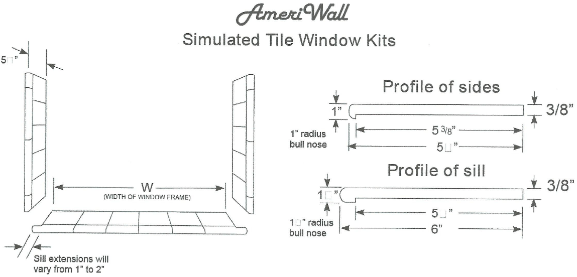 diagram of tile window kits
