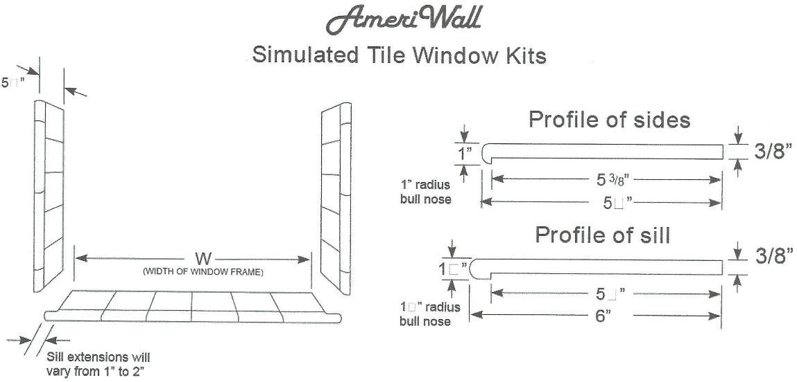 simulated tile window kits