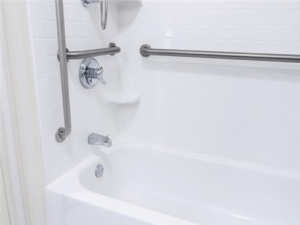 Handicap friendly bathtub with handrails