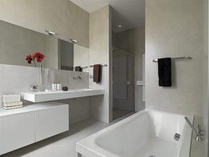 Modern Bathroom with Shower Enclosure and Bathtub