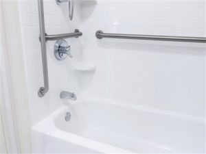 Bathtub and Shower with handles