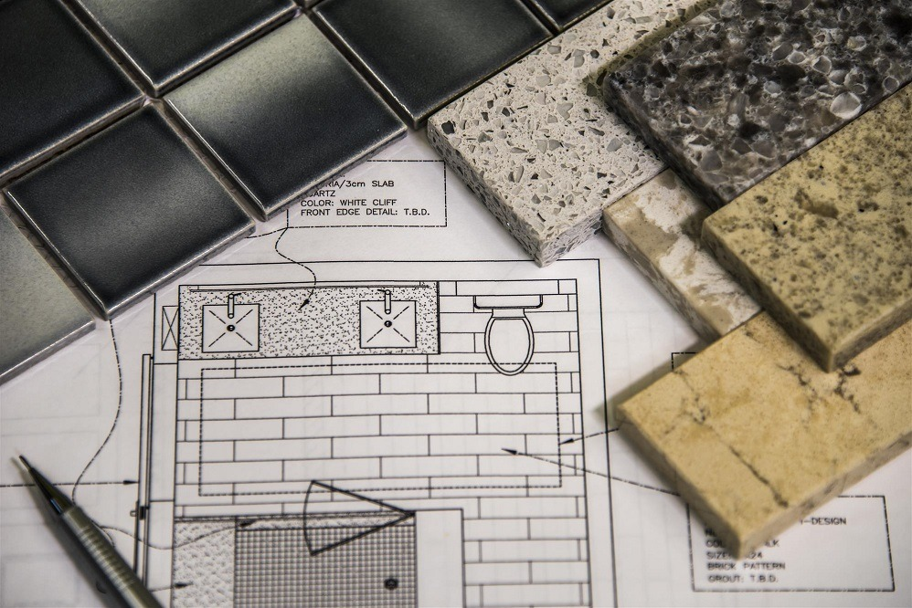 modern bathroom renovation design and material selection