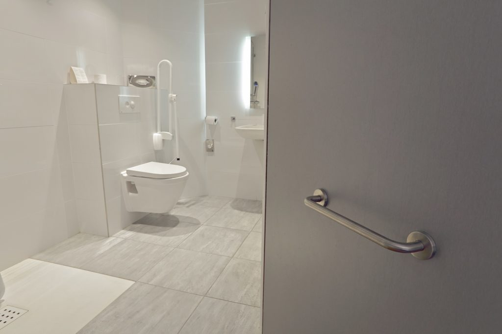 bathroom equipped for disabled people