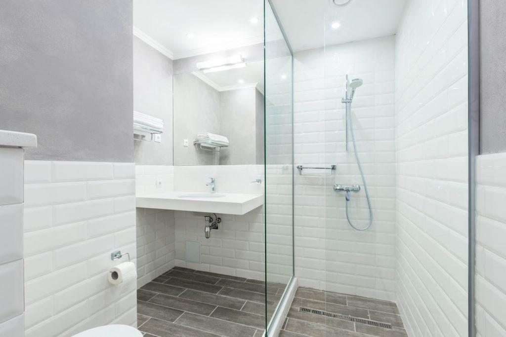 Simple Hotel Bathroom