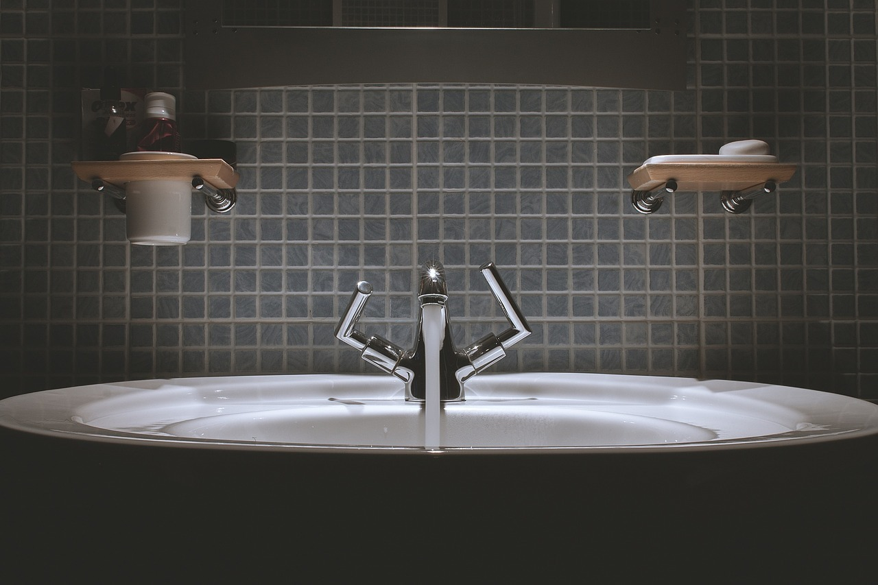 Luxury faucet and Modern hygienic wash basin