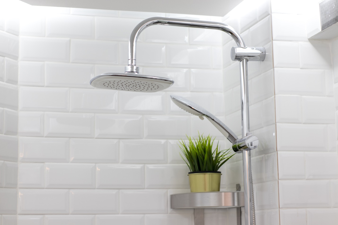 White clean bathroom on apartment