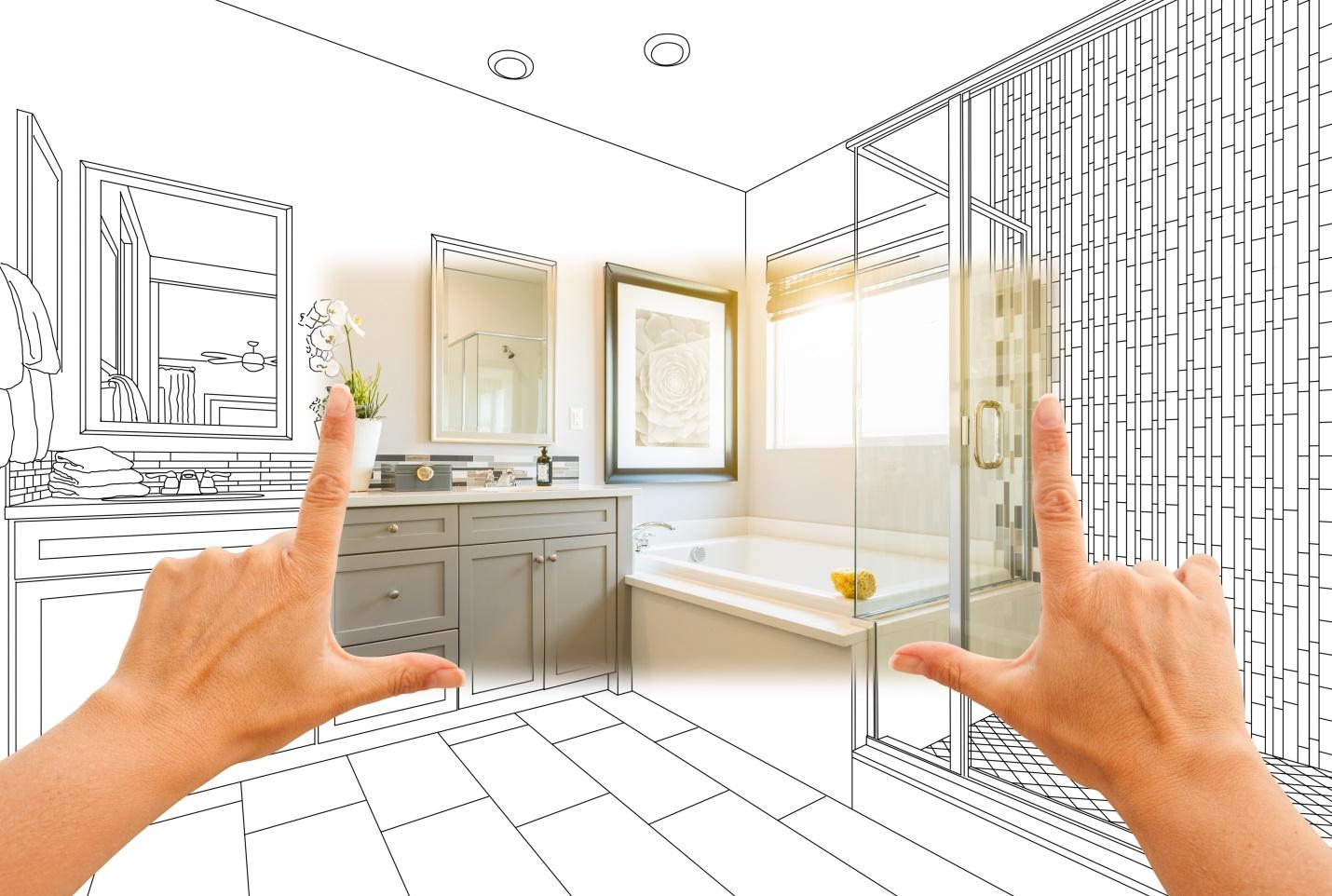 Hands Framing Custom Master Bathroom Photo